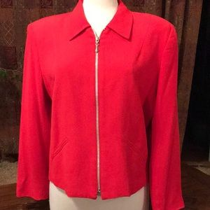 Apostrophe red lightweight jacket or blouse